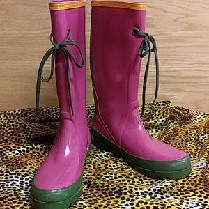 J crew rain boots women's size 8